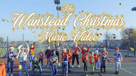 More than 75 performers gathered for the special Christmas music video. Picture: Marc Coleman