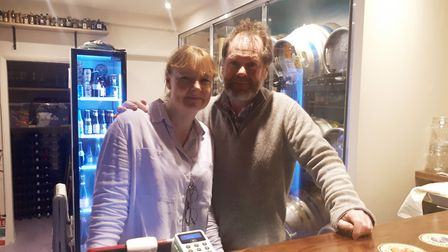 Alison Taffs and Philip Cooke are the owners of the new Hornchurch Hop Inn Micro Pub. Picture: April