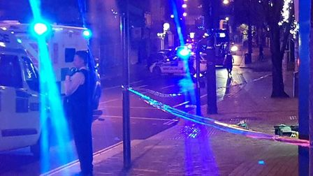 A 17-year old has been arrested on suspicion of attempted murder following a double stabbing in Fore