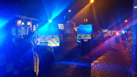 Police were called to Forest Lane at 11.53pm last night (January 9). Picture: Khalid Malik