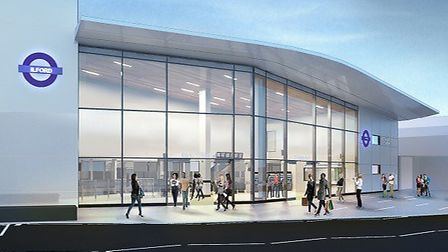What Ilford Station's Cranbrook Road entrance will look like. Picture: Crossrail
