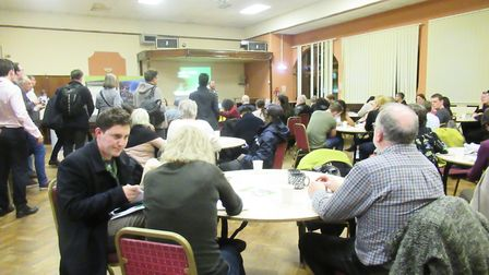 Residents and Newham Councillors turned up in droves at the event at Chandos Community Centre. Pictu