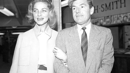 Kenneth More pictured in 1959 with Lauren Bacall, his co-star in North West Frontier. Picture: PA