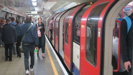Crowded train on the Central line. Picture: Mike Brooke