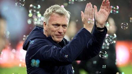 West Ham United manager David Moyes celebrates victory over Bournemouth (pic Bradley Collyer/PA)