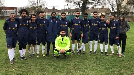 FC Leytonstone face the camera