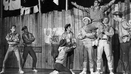 The original West Side Story cast perform Gee. Officer Krupie on Broadway in 1957.