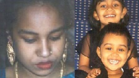 Juli Begum and her daughters Thanha and Anika. Picture: Met Police
