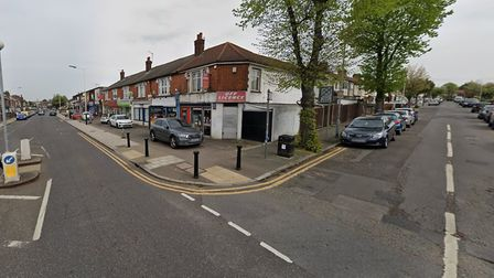 The junction of Park Lane and Hillcrest Road was closed by police officers following a car crash at