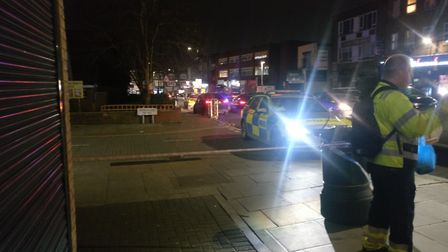 Two teenagers were stabbed during an incident in Kinfauns Road, Goodmayes on Saturday evening, Pictu