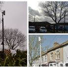 Clockwise from left: A disconnected CCTV camera off Valetta Grove; empty posts at Settle Point Car P