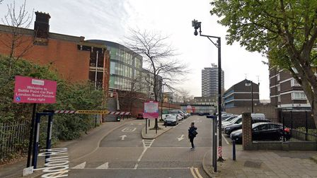 Settle Point Car Park behind Plaistow Station, where three cameras were operating in April 2019. Pic
