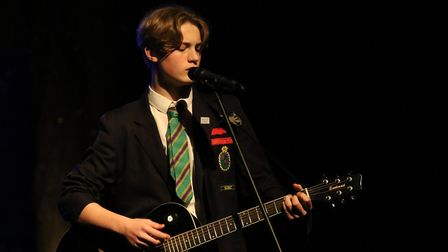 George Flemwell, of Hall Mead School, performed Coldplay's Yellow. Picture: JPF
