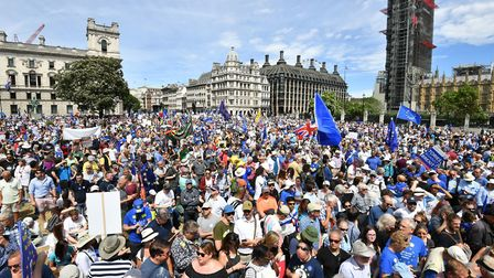 More than 100,000 attended the June 2018 anti-Brexit march in central London. Photo: PA