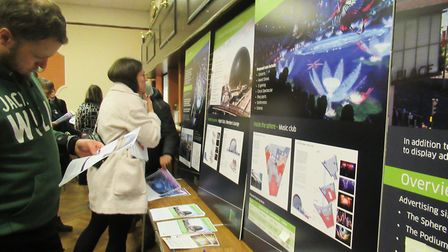 A public consultation event on the revised plans in January. Picture: Hannah Somerville