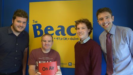 The Journal and EDP take part in The Beach's Pop the Question. Left to right, Joe Randlesome, Beach