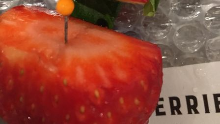 Sarah Mackie was shocked to discover a pin hidden in a strawberry she purchased from the Barkingside