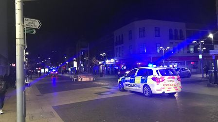 The Metropolitan Police was called at 6.49pm to reports of a large group of men fighting in Ilford H