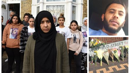 Clockwise from left: Mum Kazala Mohamed, centre, and Fuadi's family have demanded police re-open the