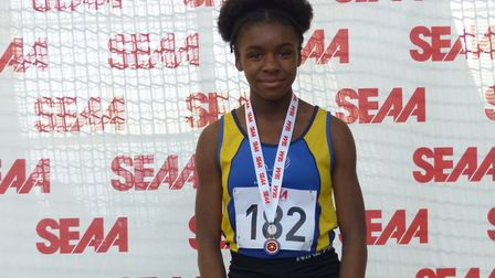 Havering's Stephanie Okoro won gold at the South of England champs