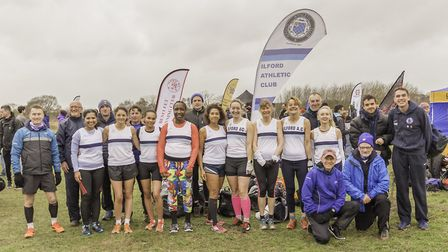 Ilford AC squad at Colchester cross country