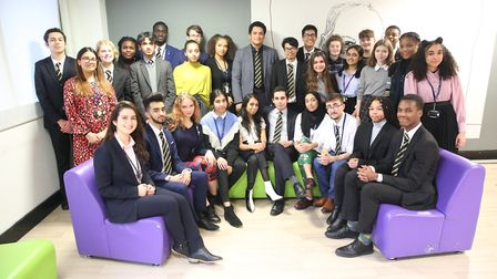 The London Academy of Excellence pupils who have received offers to study at Oxford or Cambridge. Pi