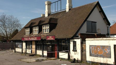 The Plough, Gallows Corner, was gutted by fire and replaced with a KFC. Picture: John Hercock