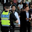 Police officers on patrol at Stratford station. Picture: Stephen Pond/PA Archive