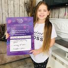 Izabell Caetano, 7, has been growing her hair for four years to donate it to Little Princess Trust.