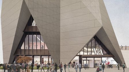 Artist's impression of V&A East. Picture: O'Donnell+Tuomey