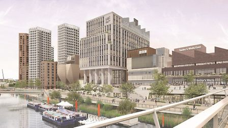 Artist's impression of the East Bank development in Queen Elizabeth Olympic Park. Picture: Mayor of