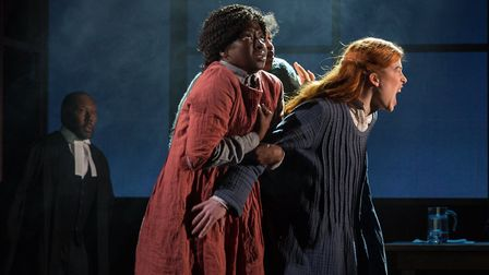 Patrick Mckenzie, Diana Yekinni and Lucy Keirl in The Crucible which was directed by Douglas Rintoul