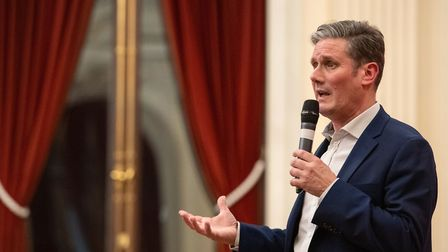 Labour leadership candidate Sir Keir Starmer speaking to supporters at the Old Town Hall, Stratford.
