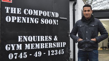 Raheel Butt at the fledgling gym and community hub in Eastern Road, Plaistow. Picture: Hannah Somerv