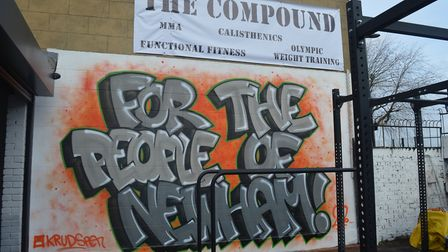 Formerly a garage, The Compound is envisioned as a safe space for at-risk young people in Newham. Pi