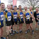 The Havering senior men's squad at the National cross-country championships