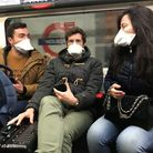 A stock image of people wearing face masks on the Tube. Picture: Kirsty O'Connor/PA Wire.