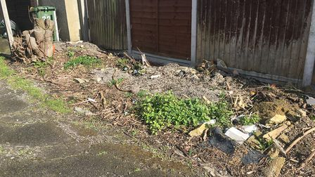 Most of the rubbish in Plumpton avenue, Hornchurch was recently cleared away by council officers. Pi