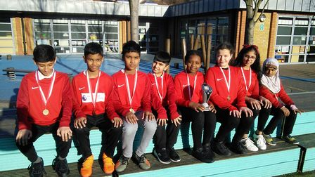 Sandringham were crowned champions of the year 5/6 Badminton Racket Competition (Pic: Pat Hector)