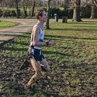 Ilford AC's Jak Wright at the South of Englan Schoools cross-country