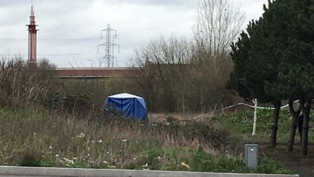 Shanur's body was found in scrubland near the station. Picture: Jon King