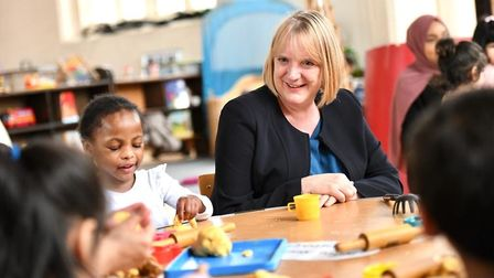 Deputy mayor of London for education and childcare, Joanne McCartney, on a visit to Kool Kidze St Ba