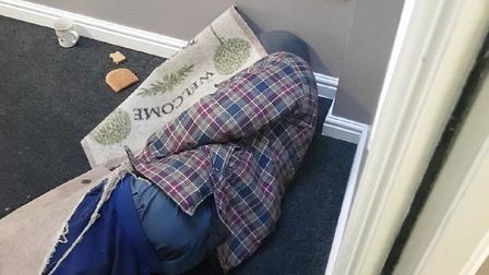Drug users in a residential building in Ilford are using drugs in the hallway and then sleeping ther