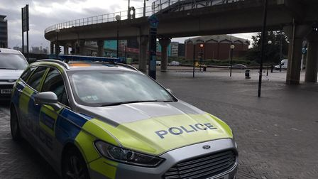Police cordoned off Gallions Reach DLR and closed a road following the discovery. Picture: Jon King