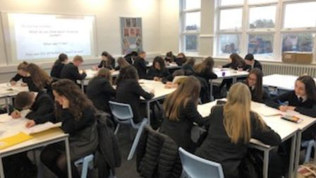 A year 10 English class. Picture: Marshalls Park Academy