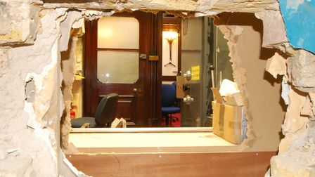 They drilled a hole through the wall. Picture: Met Police