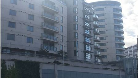 The Axis housing development in Mercury Gardens is patrolled by 24-hour fire wardens. Picture: April