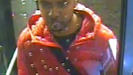 Police are appealing for help in finding this man who is suspected of sexual assault on a Romford bu