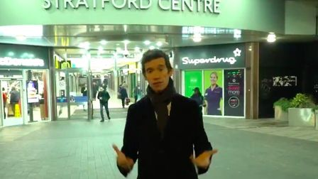 London Mayor candidate Rory Stewart at the Stratford Centre. Picture: LDRS
