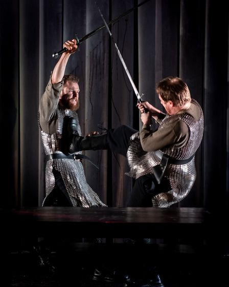 Paul Tinto and Ewan Somers in Macbeth. Picture: Mark Sepple